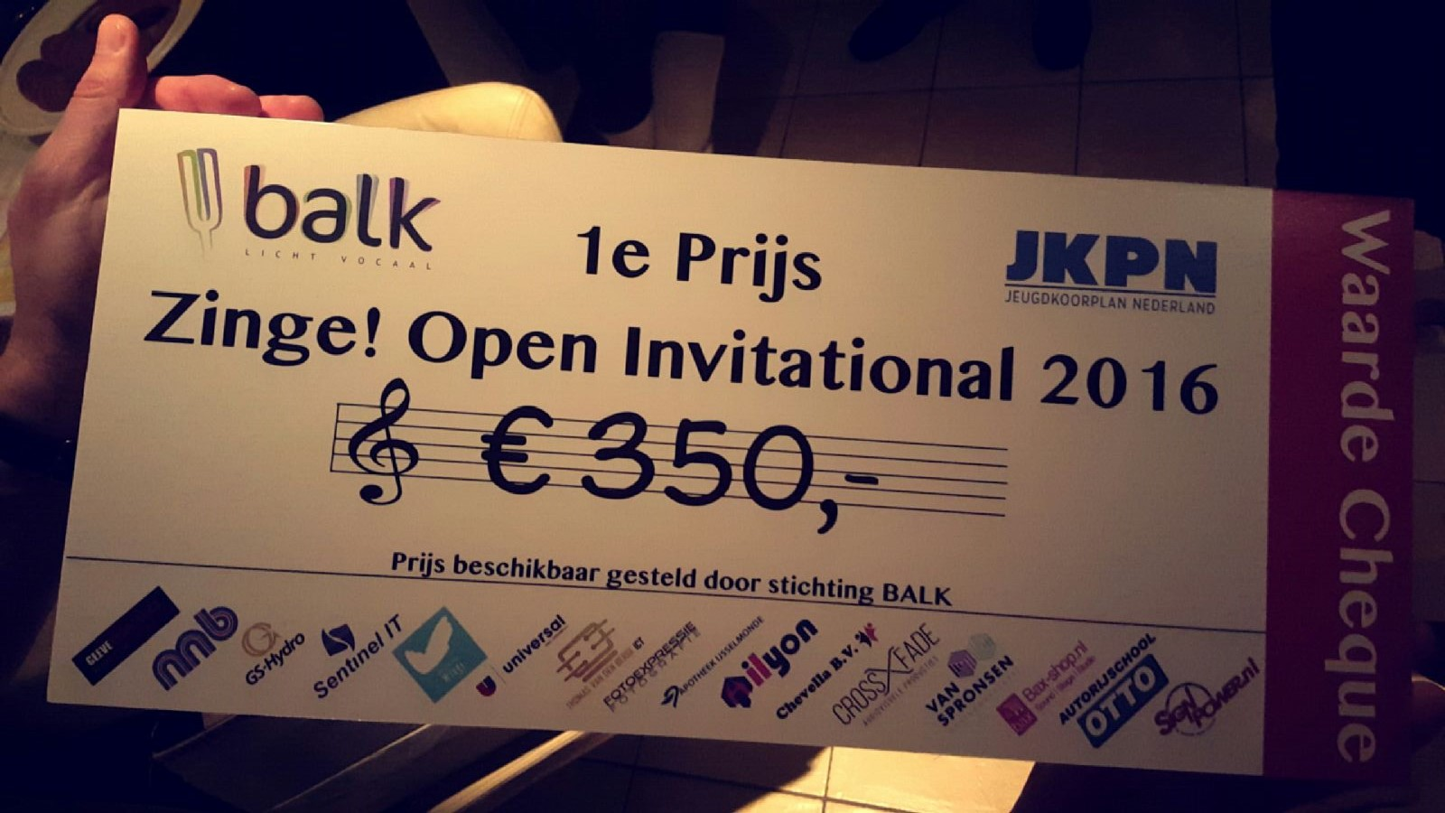 Uitslag Zinge! Open Invitational 2016